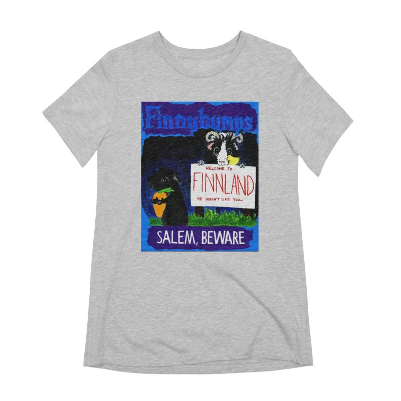 Finnybumps - Salem, Beware Women's Extra Soft T-Shirt by Guinea Pigs and Books