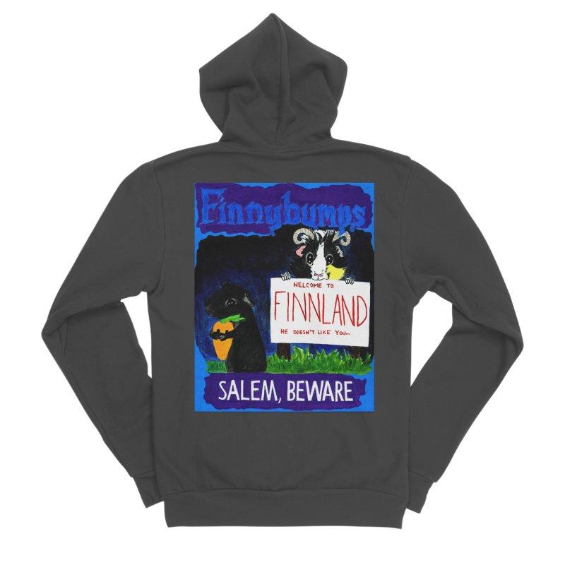 Finnybumps - Salem, Beware Women's Sponge Fleece Zip-Up Hoody by Guinea Pigs and Books