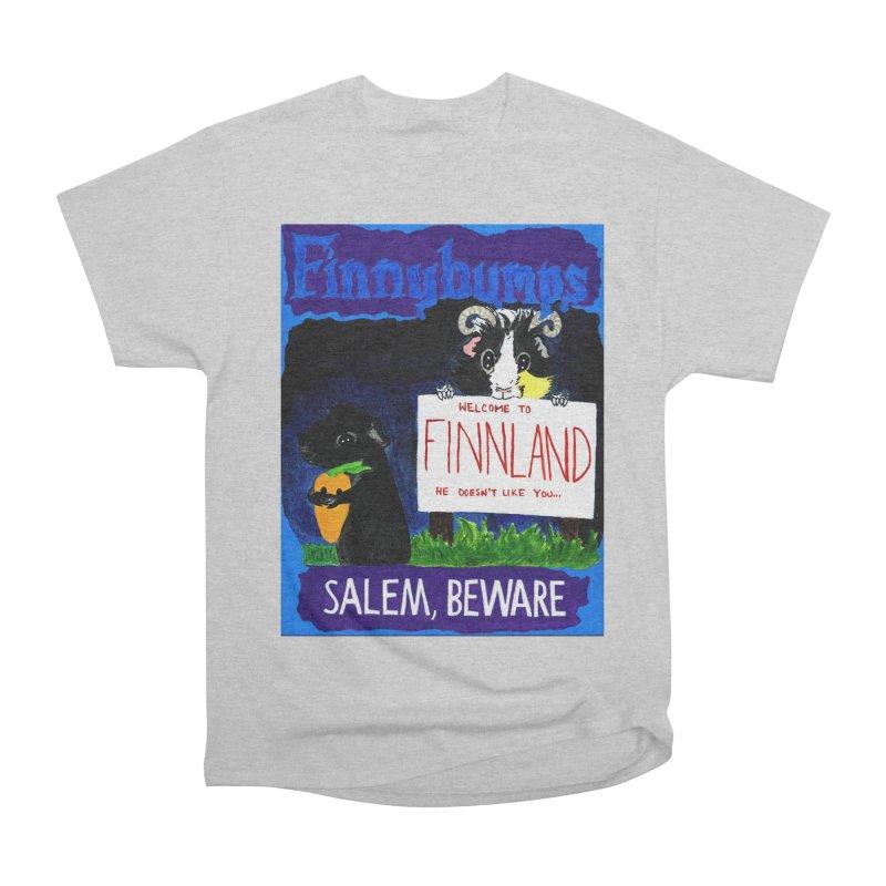 Finnybumps - Salem, Beware Men's Heavyweight T-Shirt by Guinea Pigs and Books