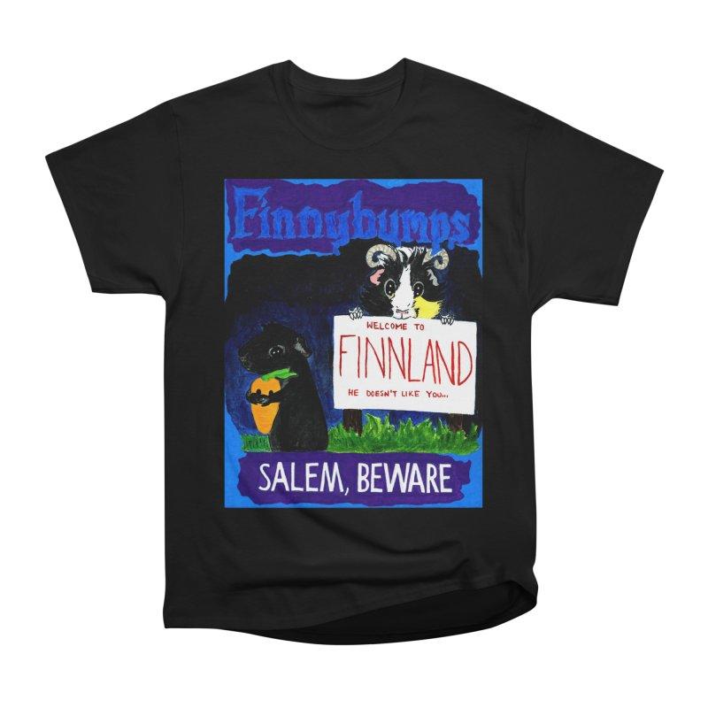 Finnybumps - Salem, Beware Women's Heavyweight Unisex T-Shirt by Guinea Pigs and Books