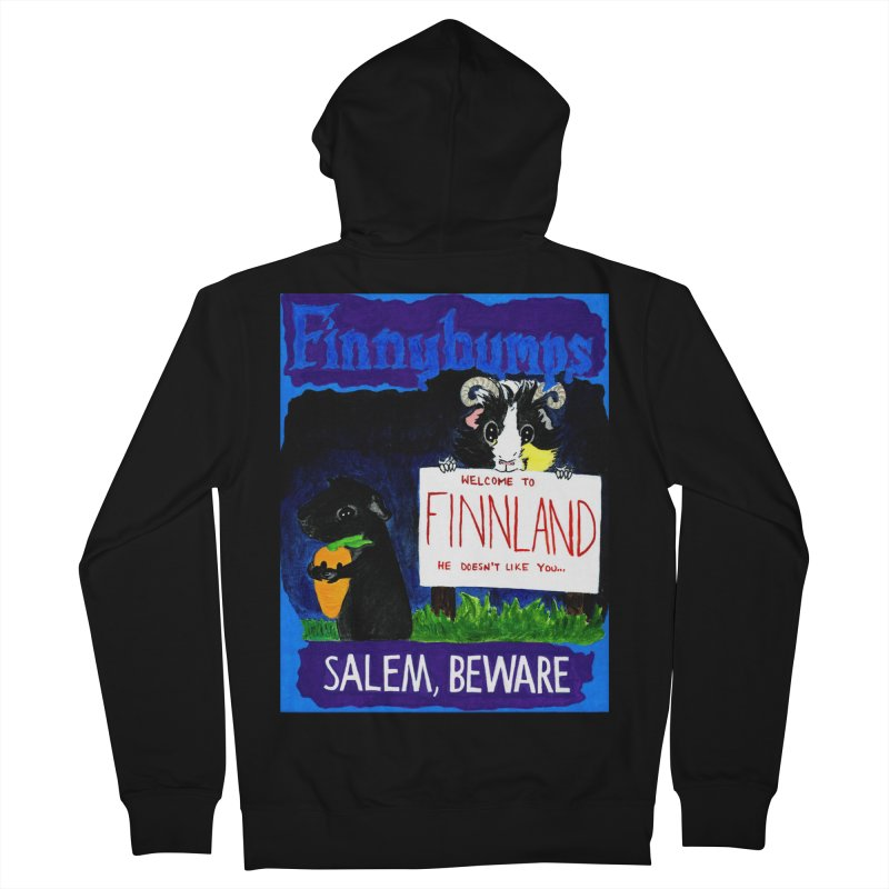 Finnybumps - Salem, Beware Women's French Terry Zip-Up Hoody by Guinea Pigs and Books