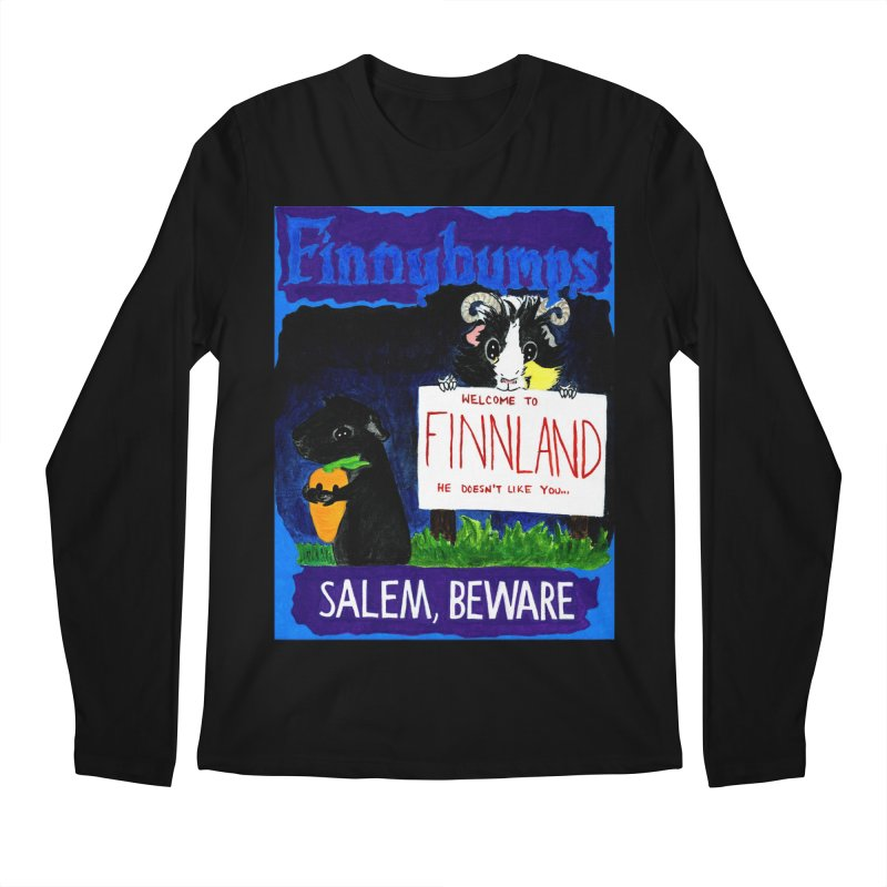 Finnybumps - Salem, Beware Men's Regular Longsleeve T-Shirt by Guinea Pigs and Books