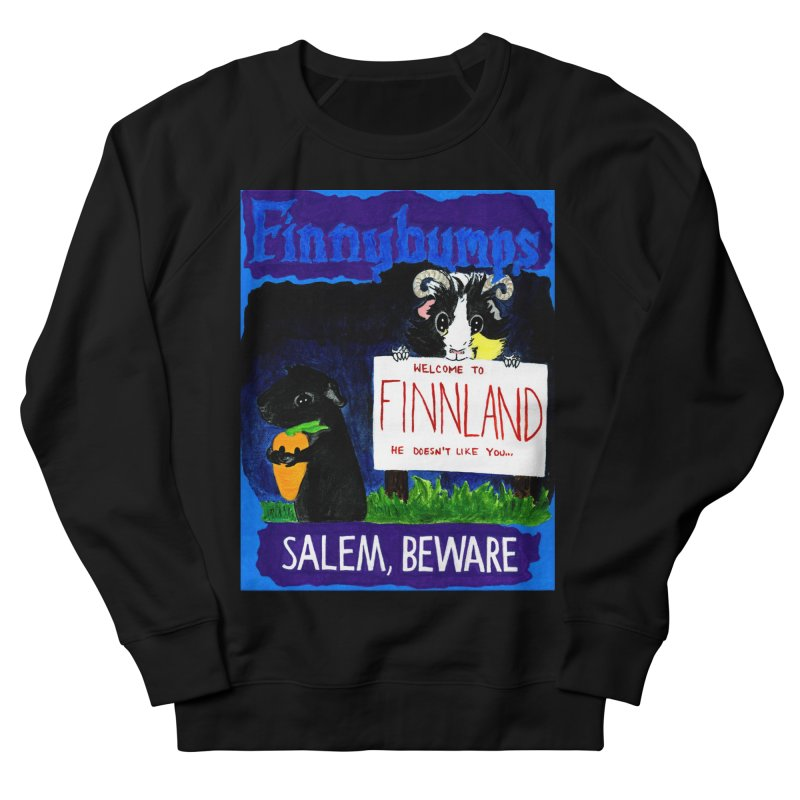 Finnybumps - Salem, Beware Men's French Terry Sweatshirt by Guinea Pigs and Books