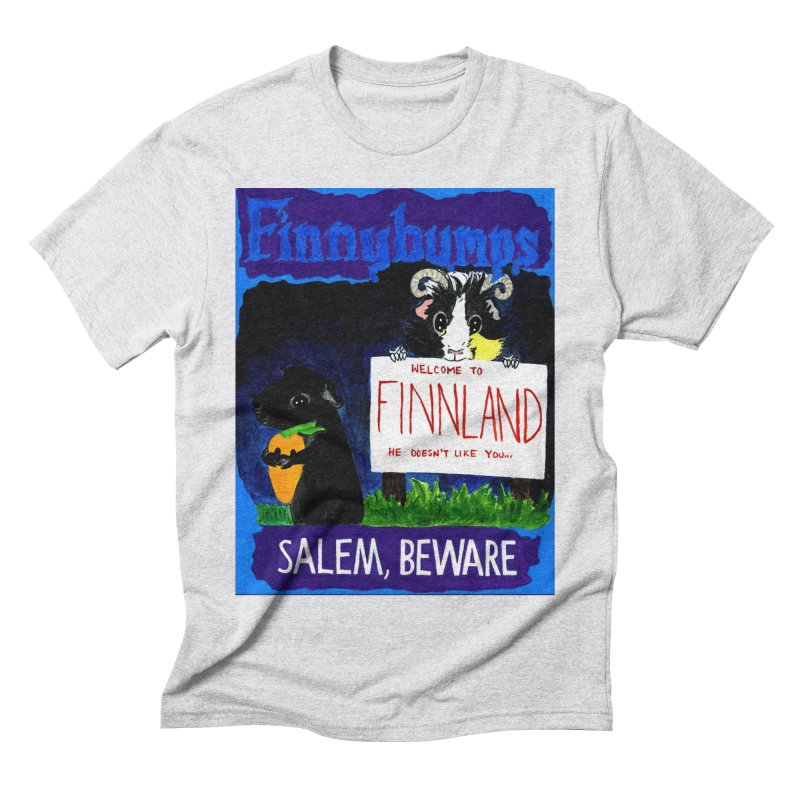 Finnybumps - Salem, Beware Men's Triblend T-Shirt by Guinea Pigs and Books