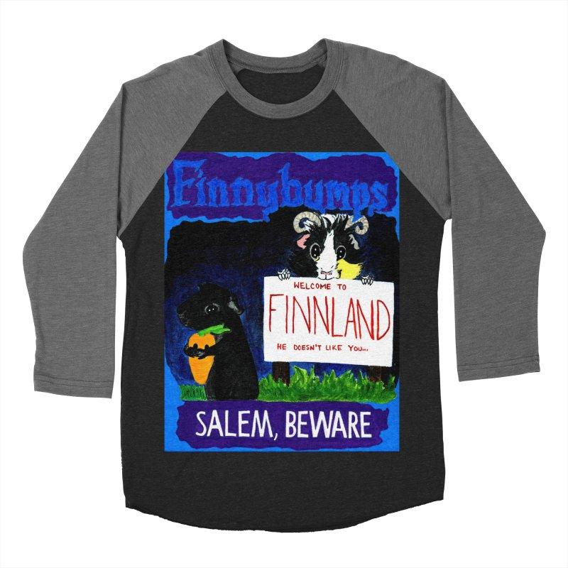 Finnybumps - Salem, Beware Women's Baseball Triblend Longsleeve T-Shirt by Guinea Pigs and Books