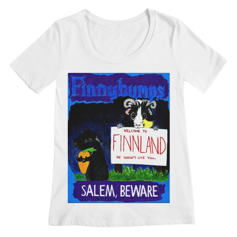 Finnybumps - Salem, Beware Women's Regular Scoop Neck by Guinea Pigs and Books