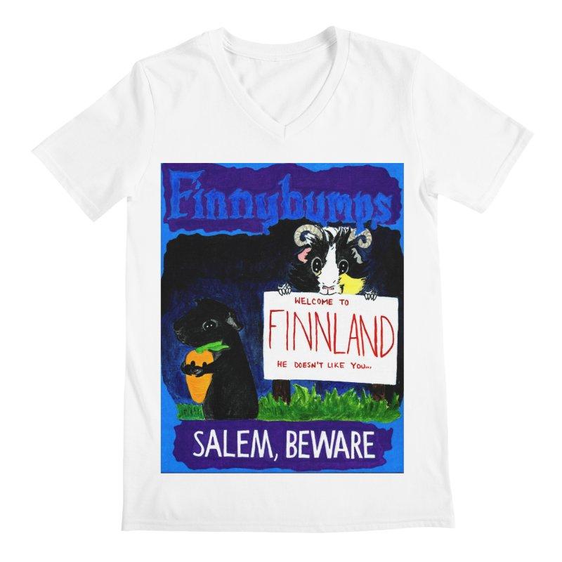 Finnybumps - Salem, Beware Men's Regular V-Neck by Guinea Pigs and Books