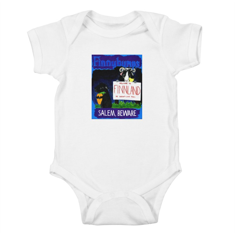 Finnybumps - Salem, Beware Kids Baby Bodysuit by Guinea Pigs and Books