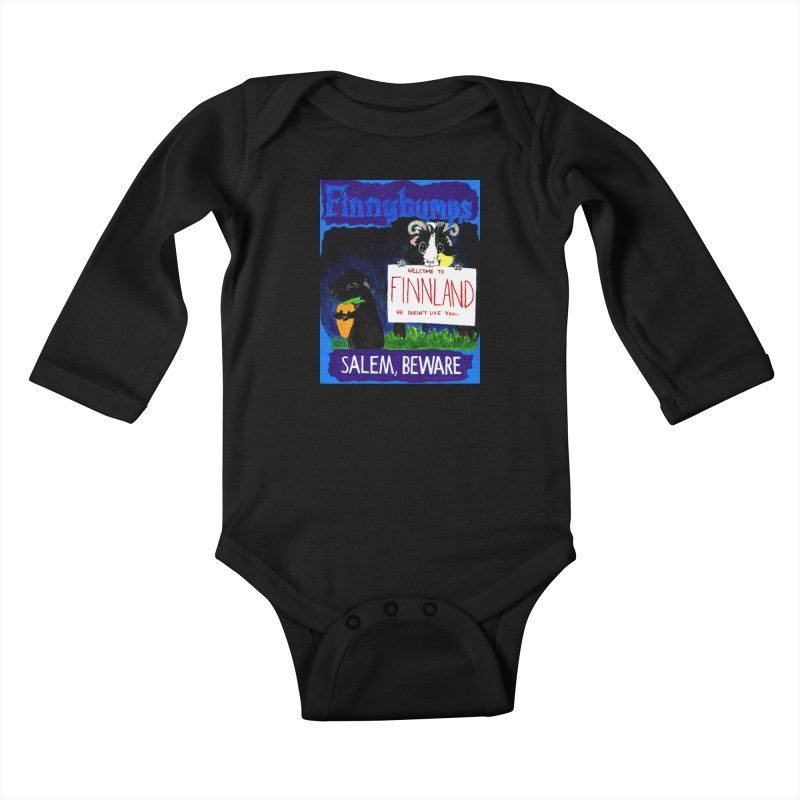 Finnybumps - Salem, Beware Kids Baby Longsleeve Bodysuit by Guinea Pigs and Books