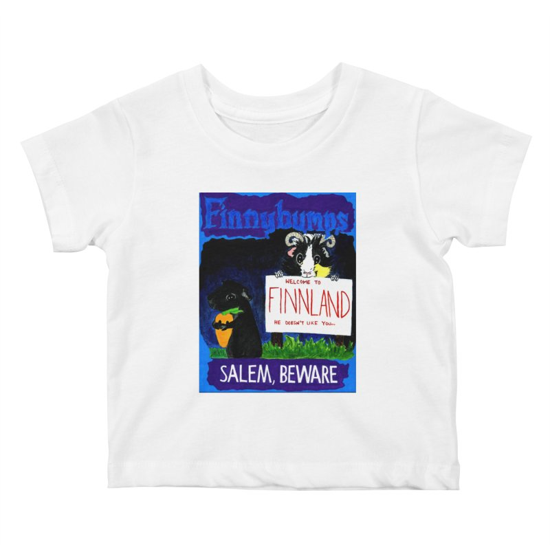 Finnybumps - Salem, Beware Kids Baby T-Shirt by Guinea Pigs and Books