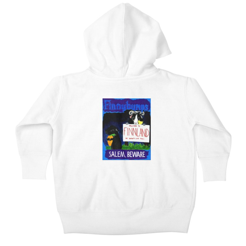 Finnybumps - Salem, Beware Kids Baby Zip-Up Hoody by Guinea Pigs and Books