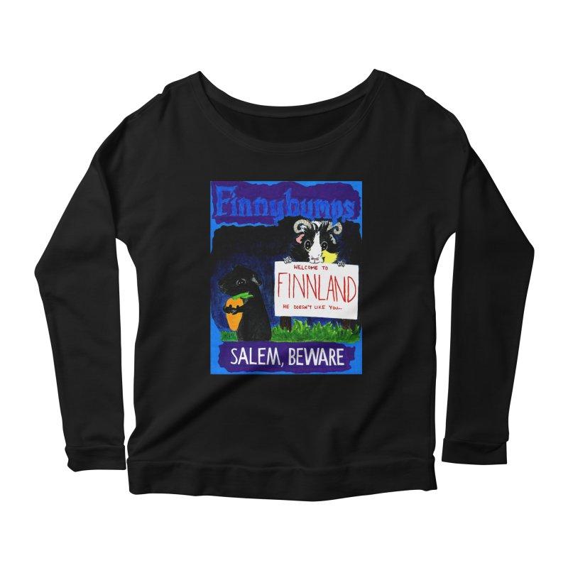 Finnybumps - Salem, Beware Women's Scoop Neck Longsleeve T-Shirt by Guinea Pigs and Books