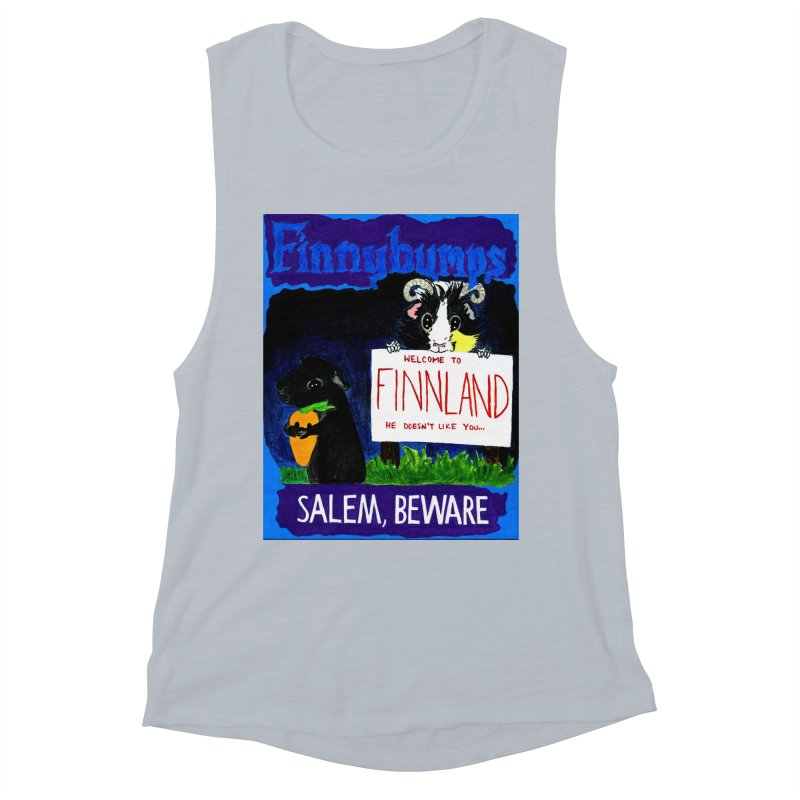 Finnybumps - Salem, Beware Women's Muscle Tank by Guinea Pigs and Books