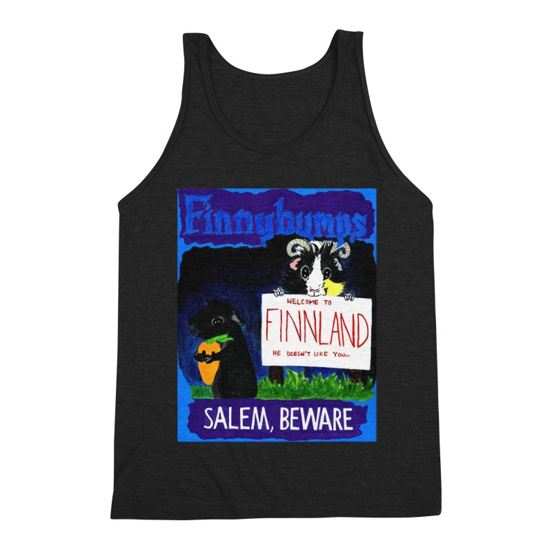 Finnybumps - Salem, Beware Men's Triblend Tank by Guinea Pigs and Books