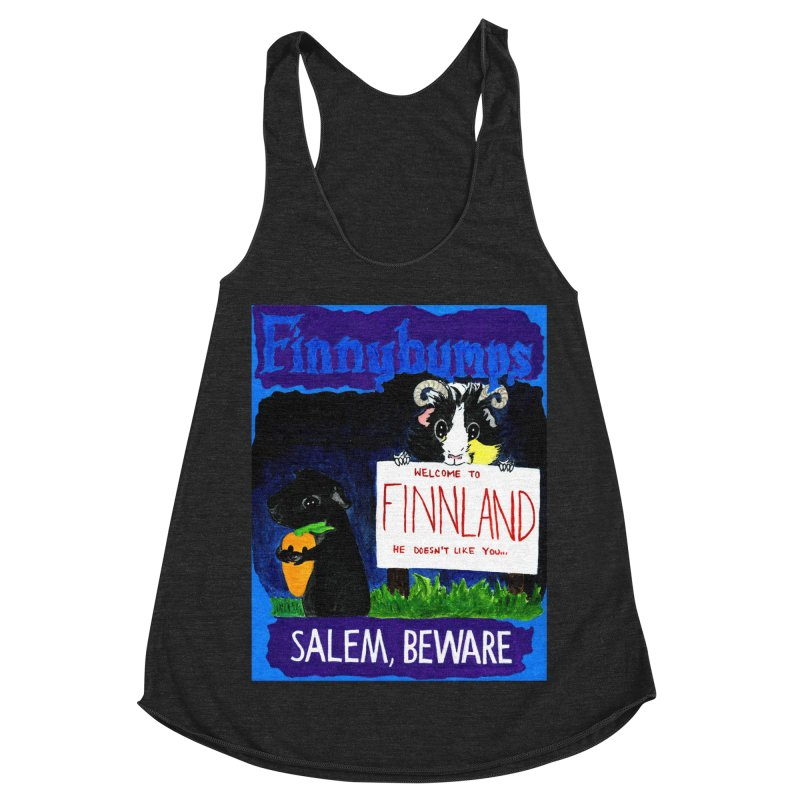 Finnybumps - Salem, Beware Women's Racerback Triblend Tank by Guinea Pigs and Books