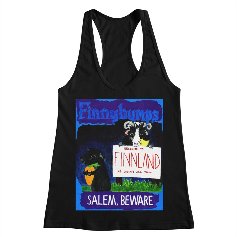 Finnybumps - Salem, Beware Women's Racerback Tank by Guinea Pigs and Books