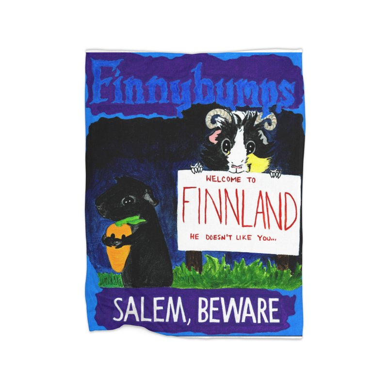 Finnybumps - Salem, Beware Home Fleece Blanket Blanket by Guinea Pigs and Books