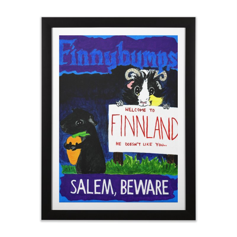 Finnybumps - Salem, Beware Home Framed Fine Art Print by Guinea Pigs and Books