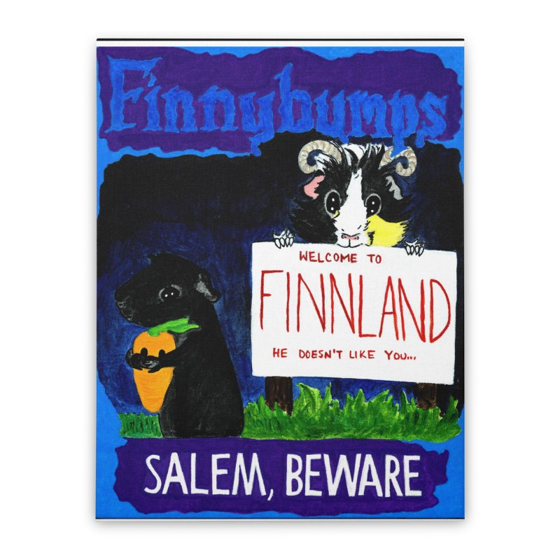 Finnybumps - Salem, Beware Home Stretched Canvas by Guinea Pigs and Books
