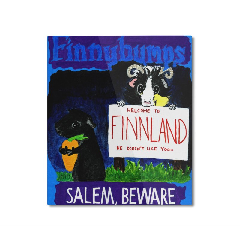 Finnybumps - Salem, Beware Home Mounted Aluminum Print by Guinea Pigs and Books
