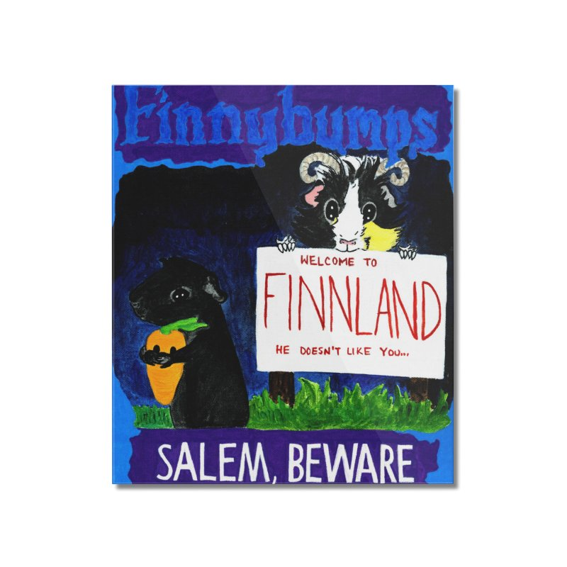 Finnybumps - Salem, Beware Home Mounted Acrylic Print by Guinea Pigs and Books