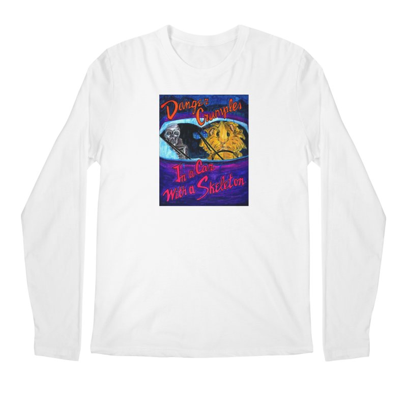 Danger Crumples In a Car with a Skeleton Men's Regular Longsleeve T-Shirt by Guinea Pigs and Books