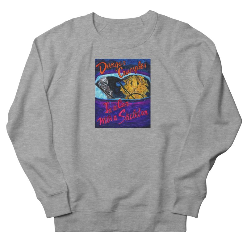 Danger Crumples In a Car with a Skeleton Men's French Terry Sweatshirt by Guinea Pigs and Books