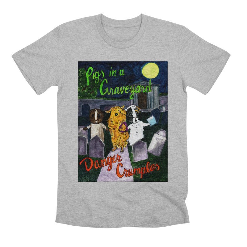 Pigs in a Graveyard Men's Premium T-Shirt by Guinea Pigs and Books