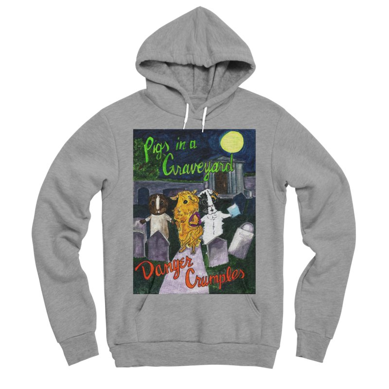 Pigs in a Graveyard Women's Sponge Fleece Pullover Hoody by Guinea Pigs and Books