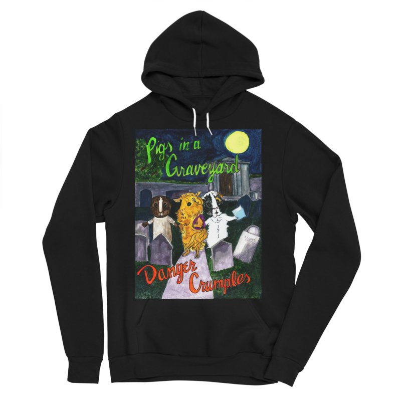 Pigs in a Graveyard Men's Sponge Fleece Pullover Hoody by Guinea Pigs and Books