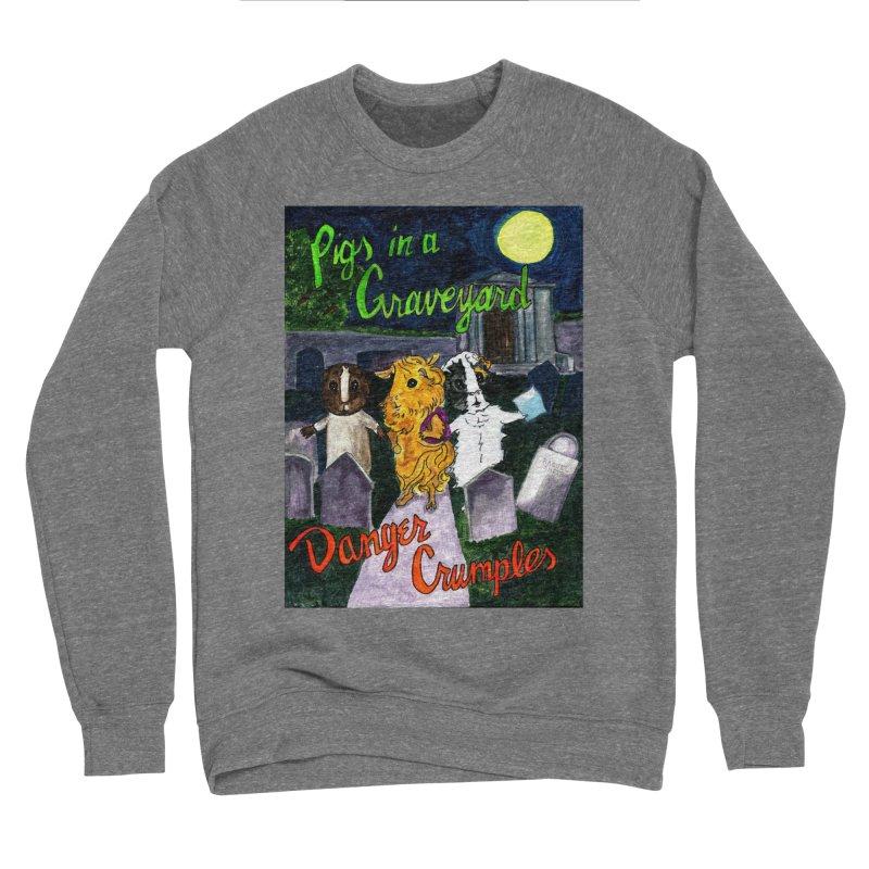 Pigs in a Graveyard Women's Sponge Fleece Sweatshirt by Guinea Pigs and Books