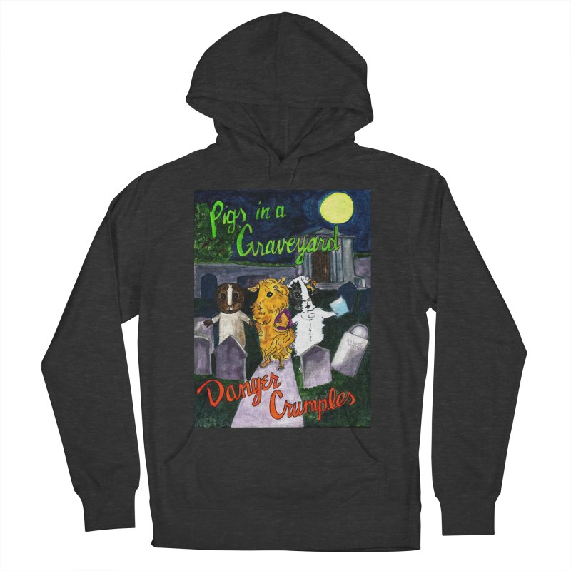 Pigs in a Graveyard Men's French Terry Pullover Hoody by Guinea Pigs and Books