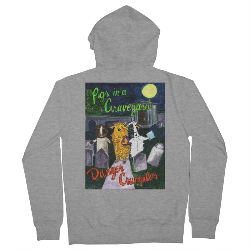 Pigs in a Graveyard Men's French Terry Zip-Up Hoody by Guinea Pigs and Books