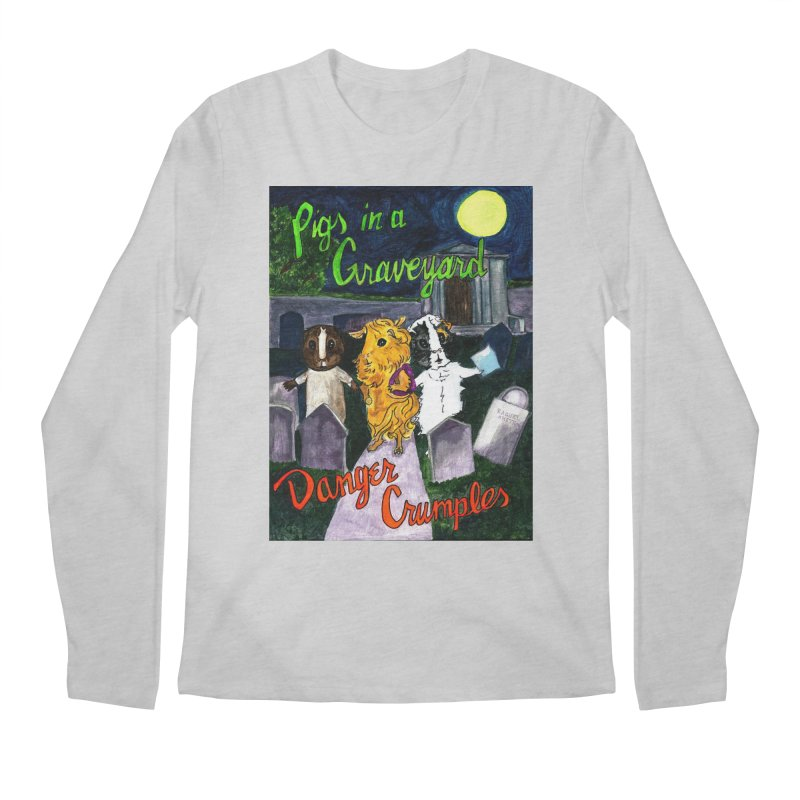 Pigs in a Graveyard Men's Regular Longsleeve T-Shirt by Guinea Pigs and Books