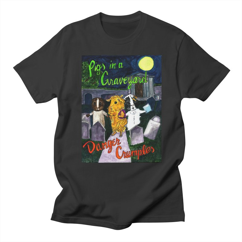 Pigs in a Graveyard Women's Regular Unisex T-Shirt by Guinea Pigs and Books
