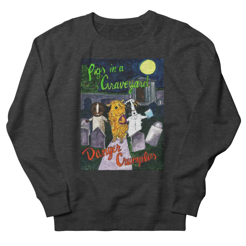 Pigs in a Graveyard Men's French Terry Sweatshirt by Guinea Pigs and Books