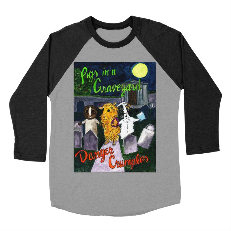 Pigs in a Graveyard Women's Baseball Triblend Longsleeve T-Shirt by Guinea Pigs and Books