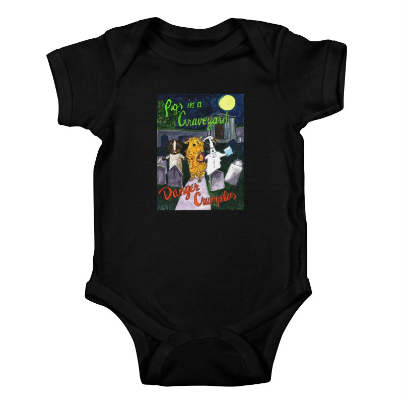 Pigs in a Graveyard Kids Baby Bodysuit by Guinea Pigs and Books