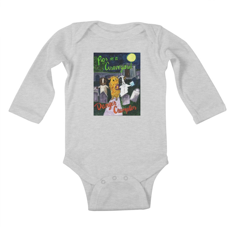 Pigs in a Graveyard Kids Baby Longsleeve Bodysuit by Guinea Pigs and Books
