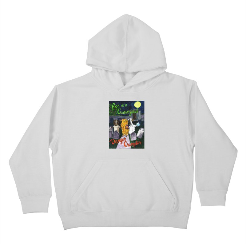 Pigs in a Graveyard Kids Pullover Hoody by Guinea Pigs and Books