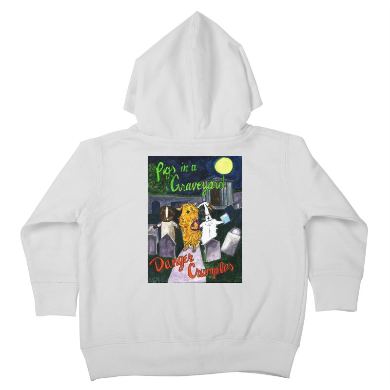 Pigs in a Graveyard Kids Toddler Zip-Up Hoody by Guinea Pigs and Books