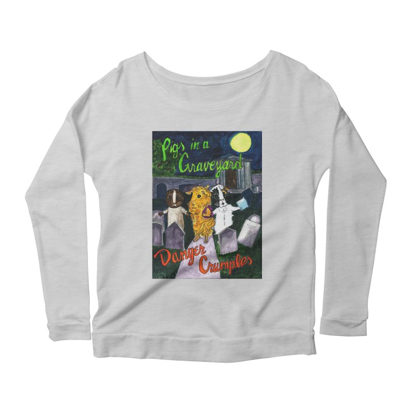 Pigs in a Graveyard Women's Scoop Neck Longsleeve T-Shirt by Guinea Pigs and Books