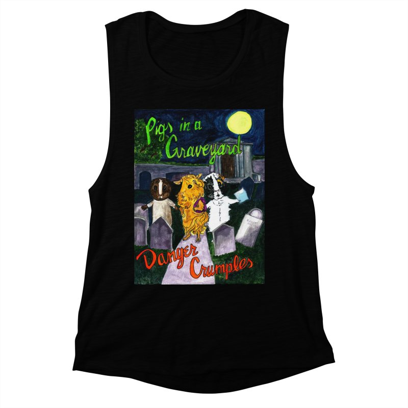 Pigs in a Graveyard Women's Muscle Tank by Guinea Pigs and Books