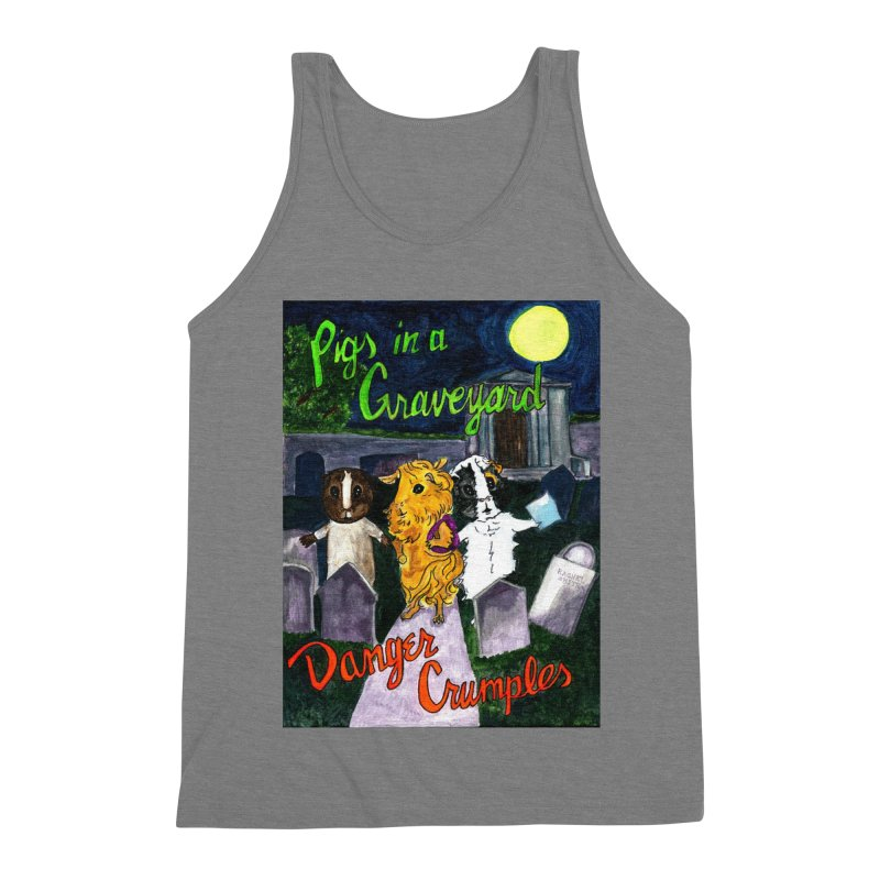 Pigs in a Graveyard Men's Triblend Tank by Guinea Pigs and Books