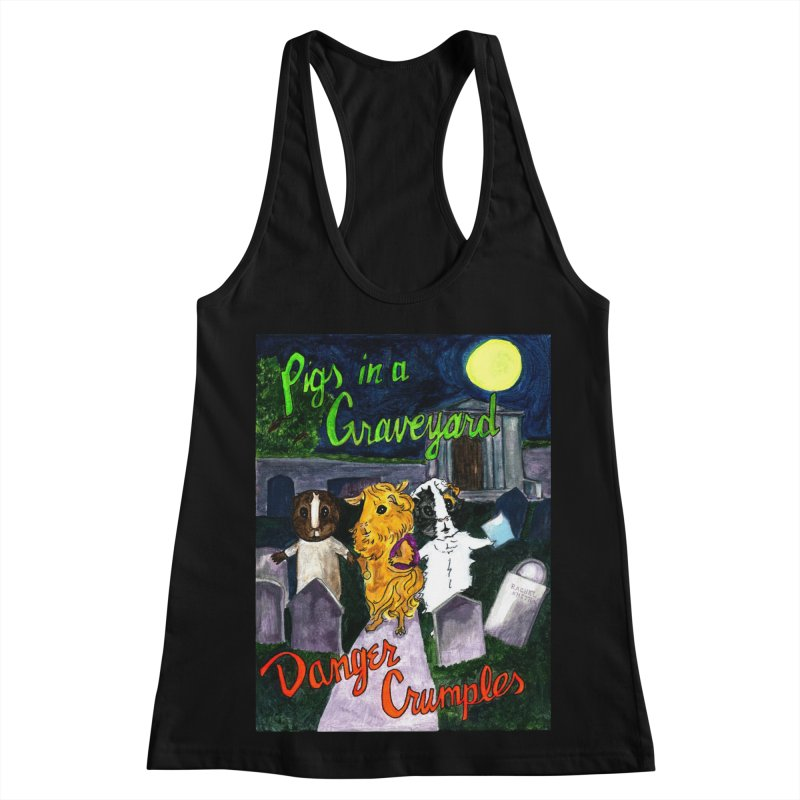 Pigs in a Graveyard Women's Racerback Tank by Guinea Pigs and Books