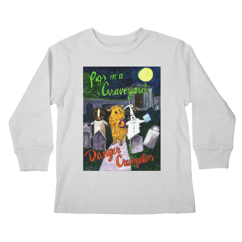 Pigs in a Graveyard Kids Longsleeve T-Shirt by Guinea Pigs and Books