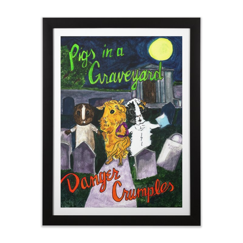 Pigs in a Graveyard Home Framed Fine Art Print by Guinea Pigs and Books