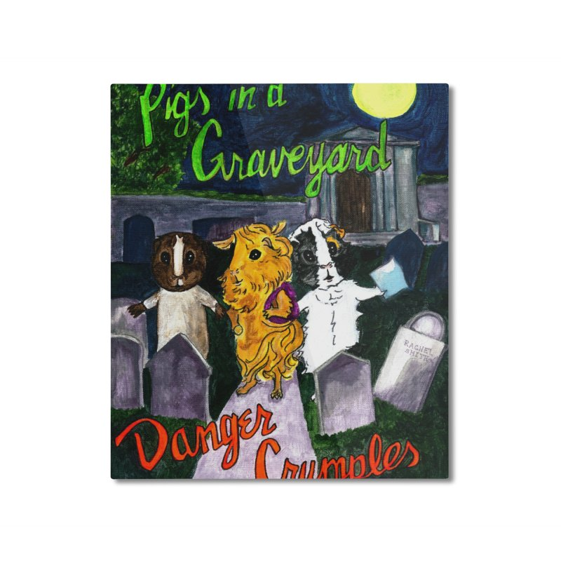 Pigs in a Graveyard Home Mounted Aluminum Print by Guinea Pigs and Books