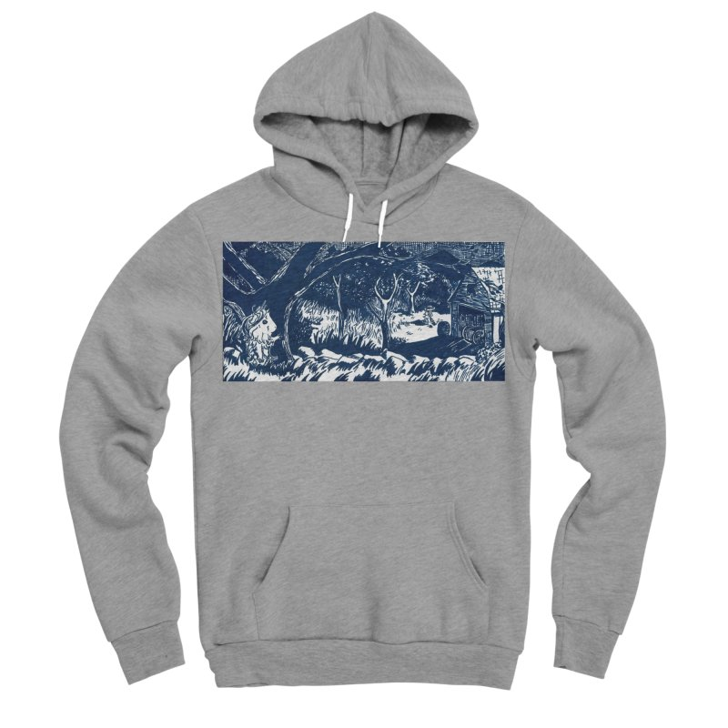 Danger Drew spying on a very suspicious digging Finny Men's Sponge Fleece Pullover Hoody by Guinea Pigs and Books