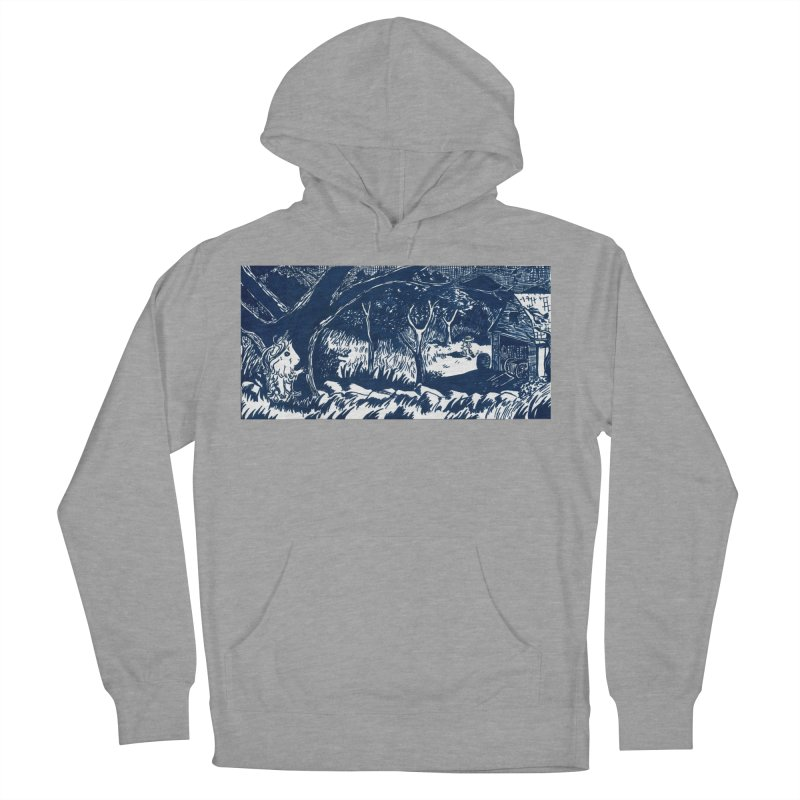 Danger Drew spying on a very suspicious digging Finny Men's French Terry Pullover Hoody by Guinea Pigs and Books